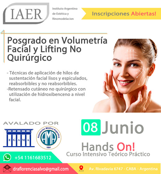 Posgrado en volumetría facial y lifting no quirúrgico