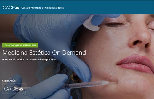 Curso online de capacitación estética para médicos